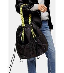 considered marble black bunge tote bag - black