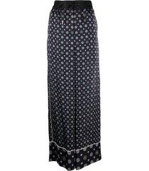 sacai geometric-print wide-leg trousers
