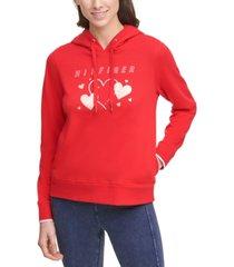 tommy hilfiger sport heart graphic hoodie