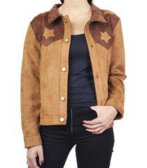 chaqueta vaquera estrellas marrón humana