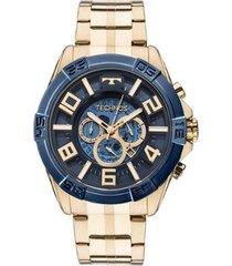 relógio masculino technos os2abf/4a 51mm aço dourado