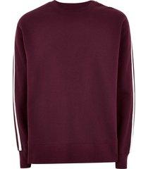 mens grey burgundy taping sweatshirt
