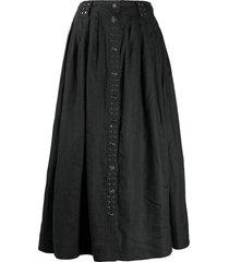 ganni light linen skirt