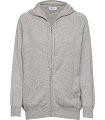 hood hoodie trui grijs davida cashmere