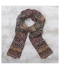 100% alpaca knit scarf, 'cusco earth' (peru)