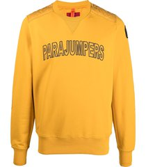 parajumpers logo front quilted sweatshirt - yellow