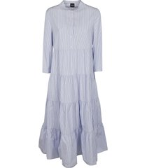aspesi flared stripe dress