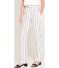 pantalón a rayas blanco 4