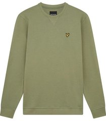 lyle and scott ml424vtr lyle en scott crew neck sweatshirt, w321 moss