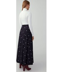 black and white spot the chung skirt