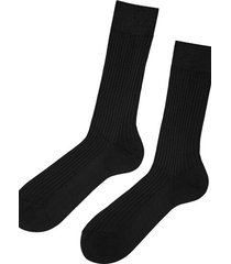 calzedonia short ribbed egyptian cotton socks man black size 40-41