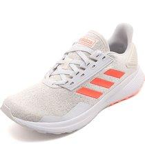 tenis running blanco hueso-naranja adidas performance duramo 9