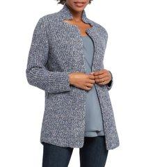 women's nic+zoe bundle up cardigan, size petite p - blue