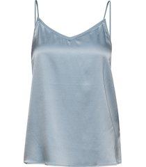 ditte silk singlet t-shirts & tops sleeveless blauw mos mosh