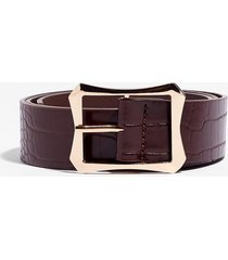 womens back square you started croc belt - chocolate