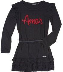 vestido negro  mapamondo