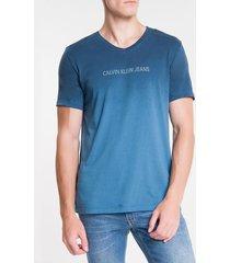 camiseta masculina logo degradê marinho calvin klein jeans - pp