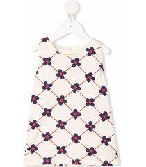 mini rodini floral-print vest - neutrals