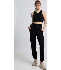 spodnie typu joggers-czarny(la-053)