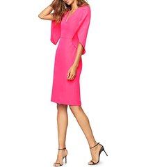 milly women's jana draped-sleeve dress - guava - size 8