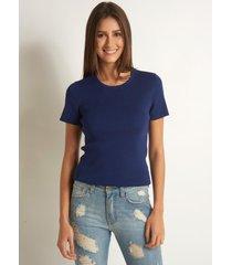 blusa le lis blanc kelly v tricot azul feminina (blue, gg)
