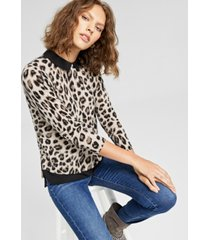 charter club cashmere layered-look sweater, in regular and petites, created for macy's