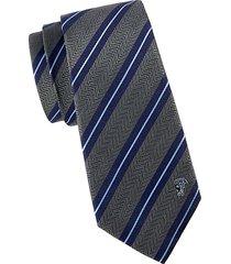 dual striped silk tie