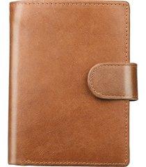 rfid vera pelle retro tri-fold 16 card slot portafoglio casual borse per uomo