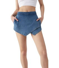 calzedonia skirt-effect shorts woman blue size m