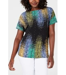 jm collection petite embellished dolman-sleeve top, created for macy's