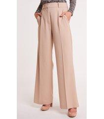 proste, beżowe eleganckie spodnie z kantem fallon