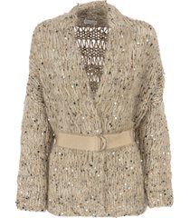 brunello cucinelli mohair and cotton cardigan