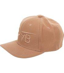 victoria beckham logo embroidered cap
