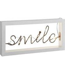 lampa stołowa led smile biała