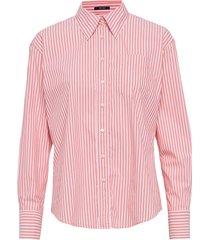 d1. tp striped business exb shirt overhemd met lange mouwen roze gant