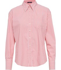 d1. tp striped business exb shirt overhemd met lange mouwen roze gant