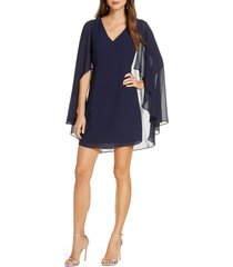 women's vince camuto cape back shift dress, size 8 - blue