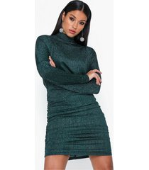ax paris puffy sleeve high neck glitter dress fodralklänningar