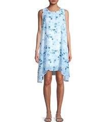 donna karan women's tie-dye shift dress - caribbean - size xs