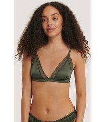 na-kd lingerie spetsbralette - green