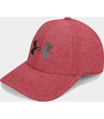 gorra rojo-gris under armour ua adjustable airvent cool cap