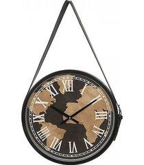 zegar ścienny na pasku world