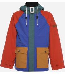 j.w. anderson multicolor hoodie jacket in nylon