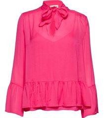 pauline blouse lange mouwen roze custommade