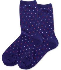 hot sox women's tiny hearts fashion crew socks
