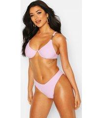 v wire high leg bikini, lilac