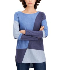inc colorblocked shirttail sweater, regular & petite sizes, created for macy's