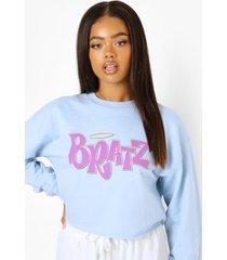 korte gelicenseerde bratz sweater, light blue