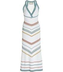 allia striped knit midi dress