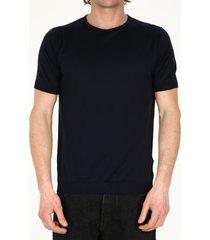 john smedley blue cotton t-shirt